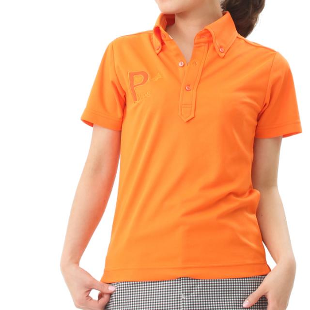 ビビットカラーポロシャツ(オレンジ)