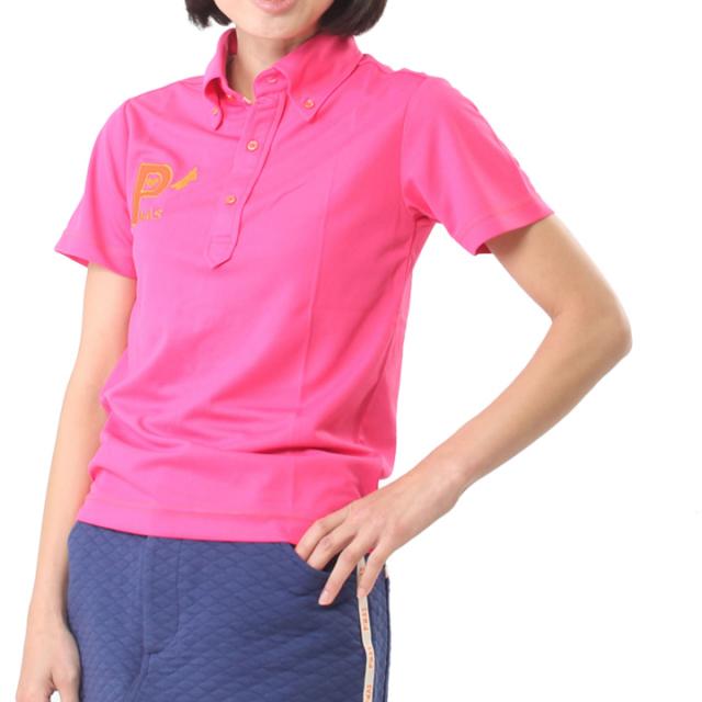 ビビットカラーポロシャツ(ピンク)