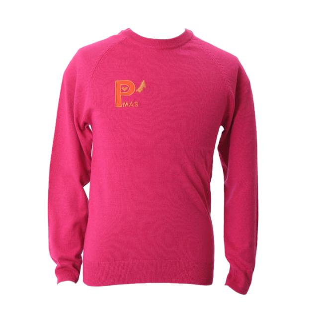 ラウンドネットセーター(ピンク)