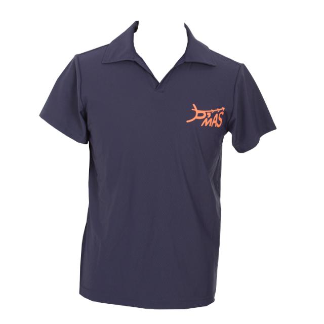 オープンカラーポロシャツ(ネイビー)