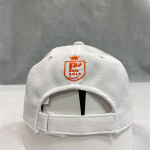 メッシュキャップ(ホワイト)刺繍オレンジ