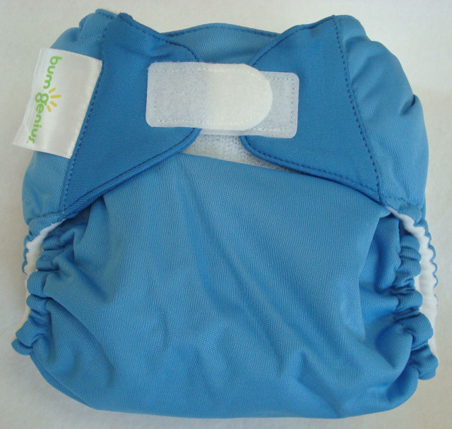 新バムジーニアス4.0 あお色 新生児からおむつ外しまで使えるかわいい布おむつ 【メール便対応】