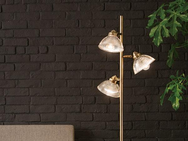 DINER(ダイナー)3灯ガラスフロアライト