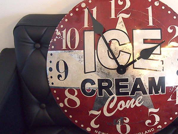 【NEWGATE】Ice cream advertising(アイスクリームアバタイジング)クロック(掛け時計)