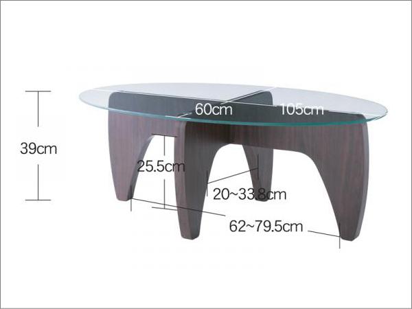 CLUDガラスセンターテーブル
