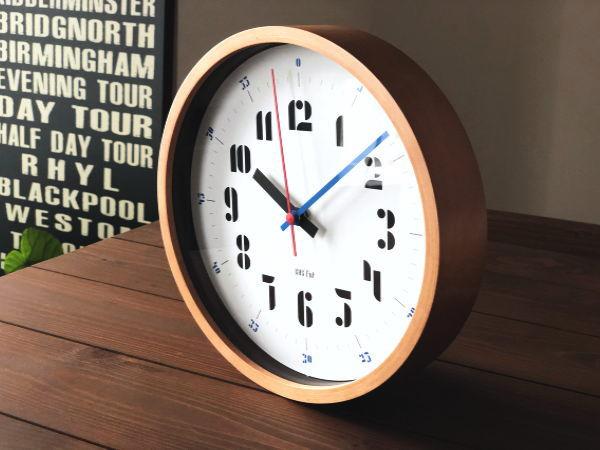 JOSCHMI ウォールクロック (ブルー) バウハウス復活フォント(掛け時計)