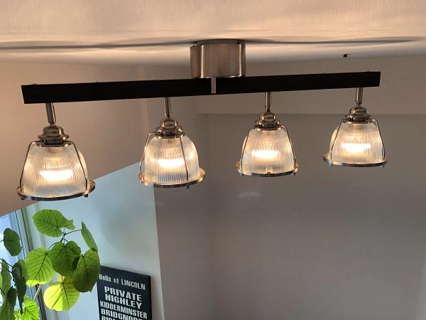 DINER4(ダイナー4)4灯ガラスシーリングライト(リモコン付き)