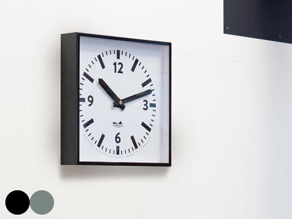 HK スクエアウォールクロック (掛け時計) 【HERMOSA】ハモサ