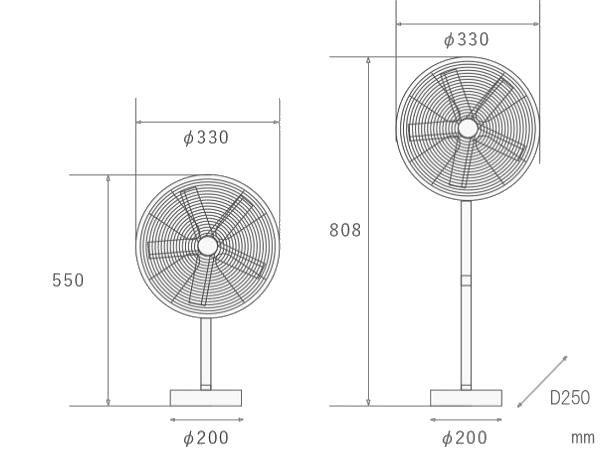 MARBLE FAN(マーブルファン)  扇風機(フロア・テーブル両用) 【HERMOSA】ハモサ