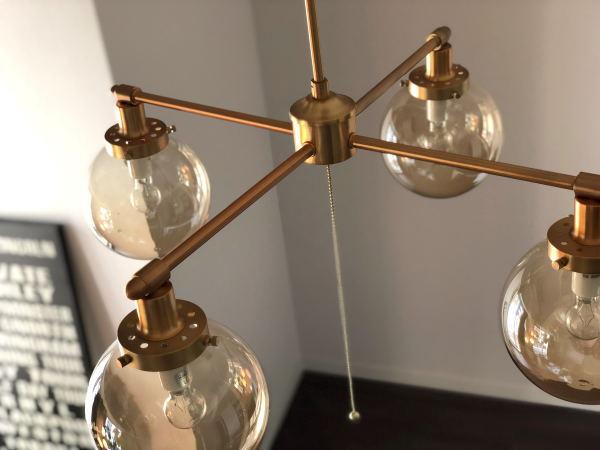 MOON CROSS(ムーンクロス)4灯ガラスシーリングライト
