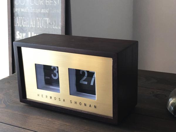 PIVOT(ピボット)フリップウッドクロック パタパタ時計