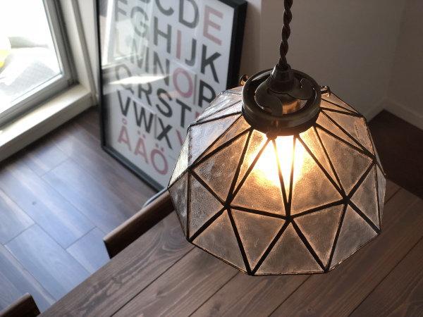 AMELIE(アメリ)1灯ステンドグラスペンダントランプ