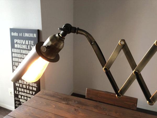 SCISSOR26(シザー26)筒形シェードブラケットライト(伸縮ランプ)