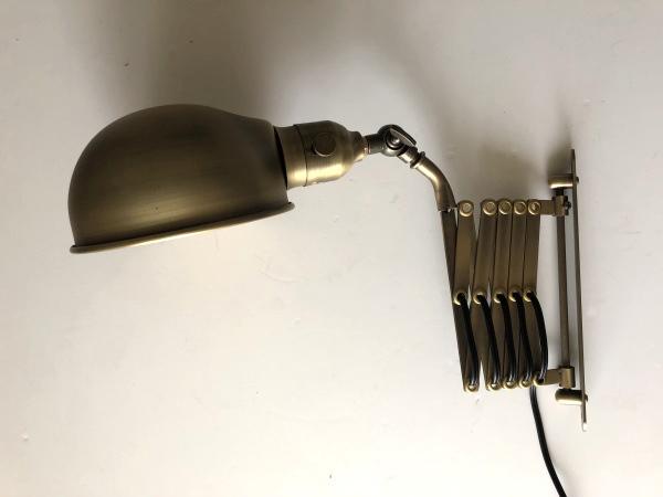 SCISSOR26(シザー26)カップシェードブラケットライト(伸縮ランプ)