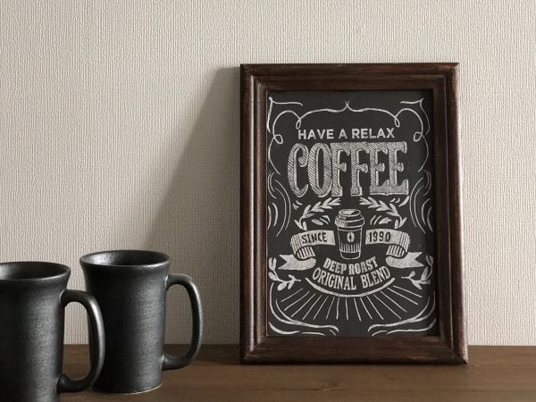 ヴィンテージウッドサインボード「COFFEE」