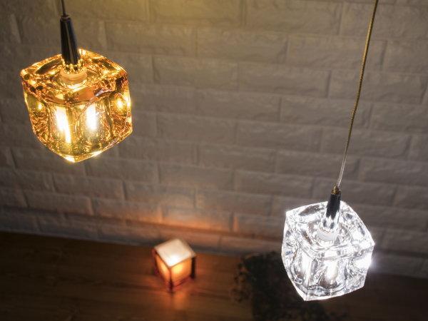 CUBE(キューブ)1灯LEDガラスランプ