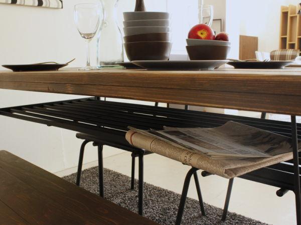 KELT(ケルト)パイン無垢・アイアン ダイニングテーブル
