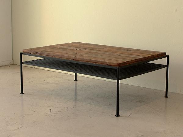 KELT(ケルト)パイン無垢・アイアン リビングセンターテーブル