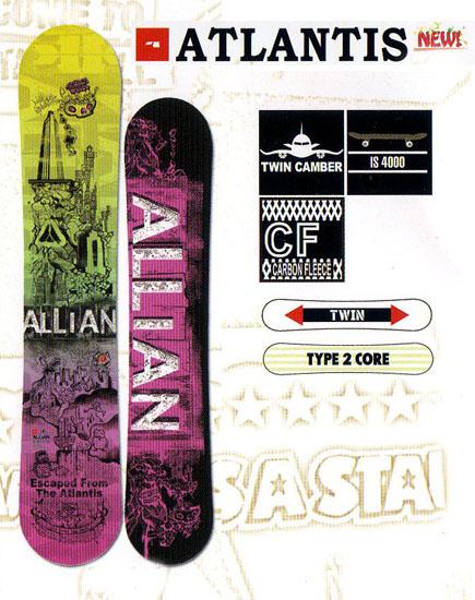 アライアン(ALLIAN)スノーボード 板【ATLANTIS Woman's】12-13モデル
