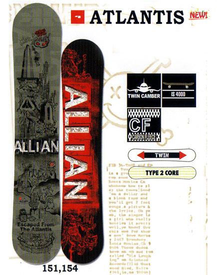 アライアン(ALLIAN)スノーボード 板【ATLANTIS】12-13モデル