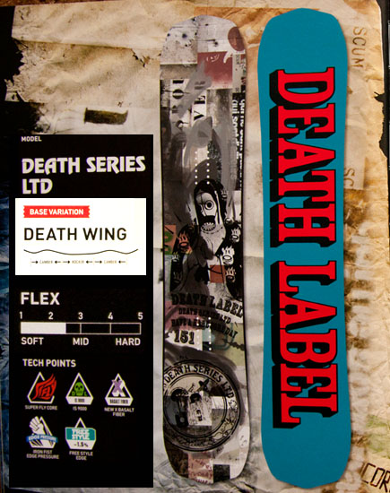 ★本数限定大特価★デスレーベル(DEATH LABEL)【DEATH SERIES LTD 153cm】 12-13 スノーボード 2013年モデル