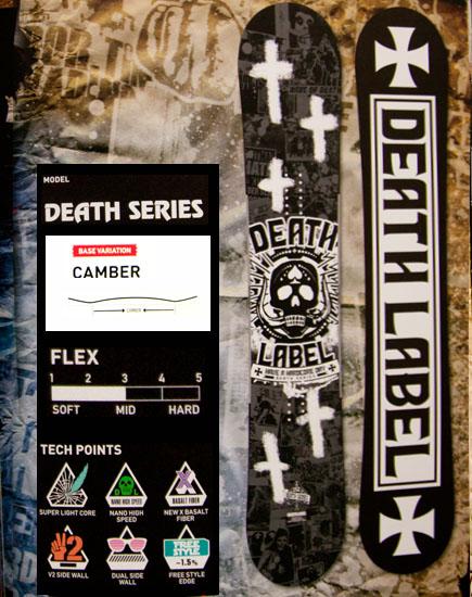★本数限定大特価★デスレーベル(DEATH LABEL)【DEATH SERIES 150cm,152cm,155cm】デスシリーズ 12-13 スノーボード