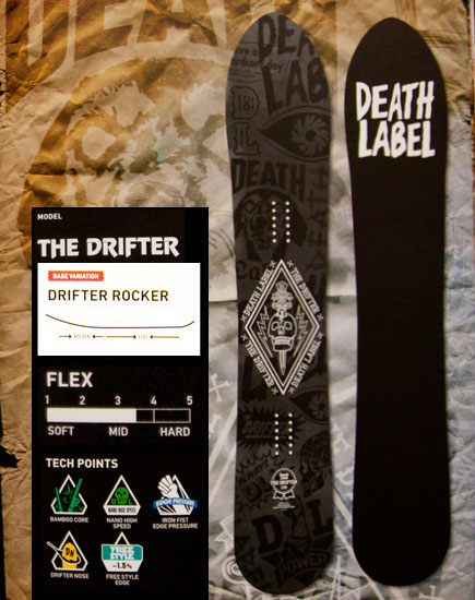 デスレーベル(DEATH LABEL)【THE DRIFTER】12-13 スノーボード 2013年モデル