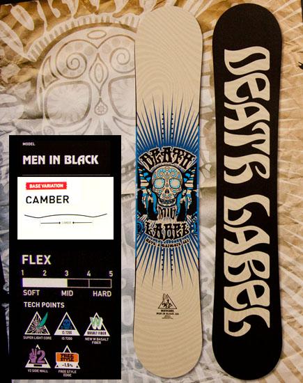 ★本数限定大特価★デスレーベル(DEATH LABEL)【MEN IN BLACK 150cm/155cm】メンインブラック 12-13 2013年モデル