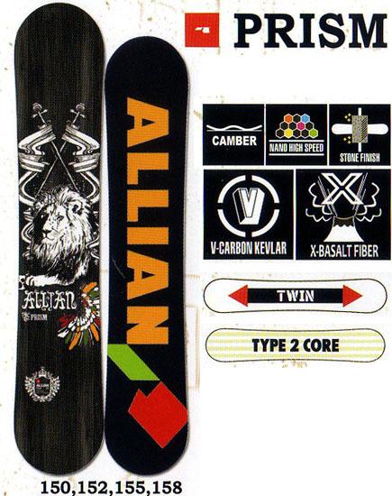 アライアン(ALLIAN)スノーボード 板【PRISM】12-13モデル