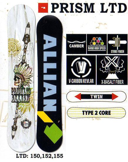 アライアン(ALLIAN)スノーボード 板【PRISM LTD】12-13モデル