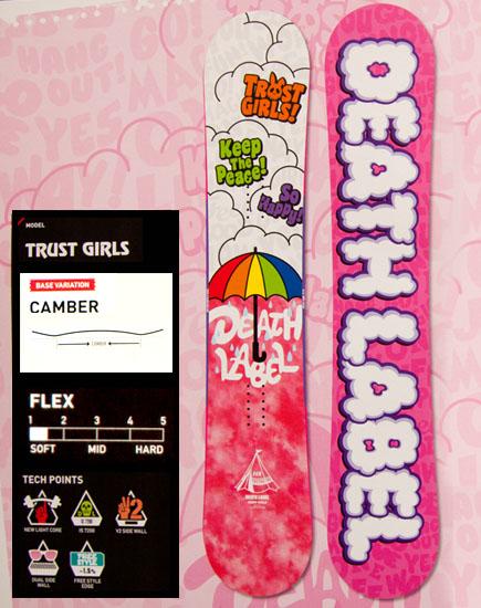 デスレーベル(DEATH LABEL)【TRUST GIRLS】トラストガールズ 12-13 スノーボード 2013年モデル