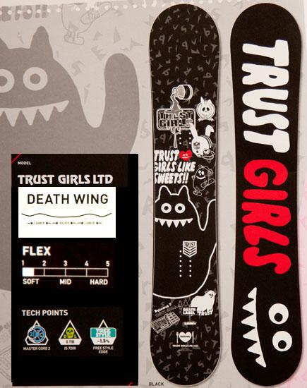デスレーベル(DEATH LABEL)【TRUST GIRLS LTD】トラストガールズリミテッド 12-13 スノーボード 2013年モデル