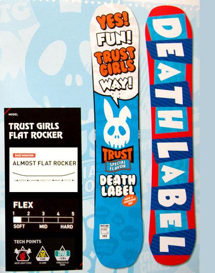 デスレーベル(DEATH LABEL)【TRUST GIRLS FLAT ROCKER】トラストガールズ フラットロッカー 12-13 スノーボード 2013年モデル
