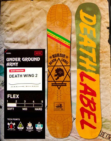 デスレーベル(DEATH LABEL)【UNDER GROUND ARMY】アンダーグラウンド アーミー 12-13 スノーボード 2013年モデル