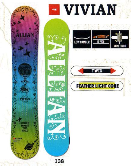 アライアン(ALLIAN)スノーボード 板【VIVIAN】12-13モデル