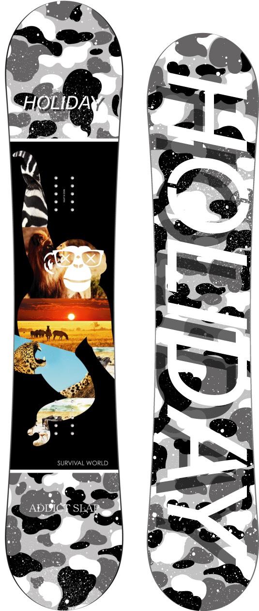 限定1本★★ ホリデー(HOLIDAY)【ADDICT SLAP】15-16 スノーボード 2016年