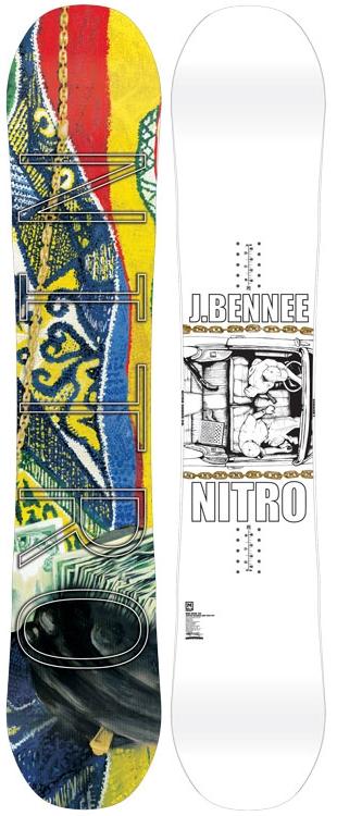 各サイズ1本★NITRO 14-15 大特価!! ナイトロ(NITRO)【Justin Bennee】14-15 スノーボード 2015年