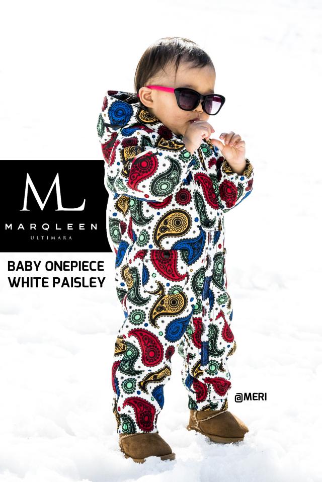 マークリーン(MARQLEEN)BABY ONE PIECE カラー:WHITE PAISLEY 18-19モデル