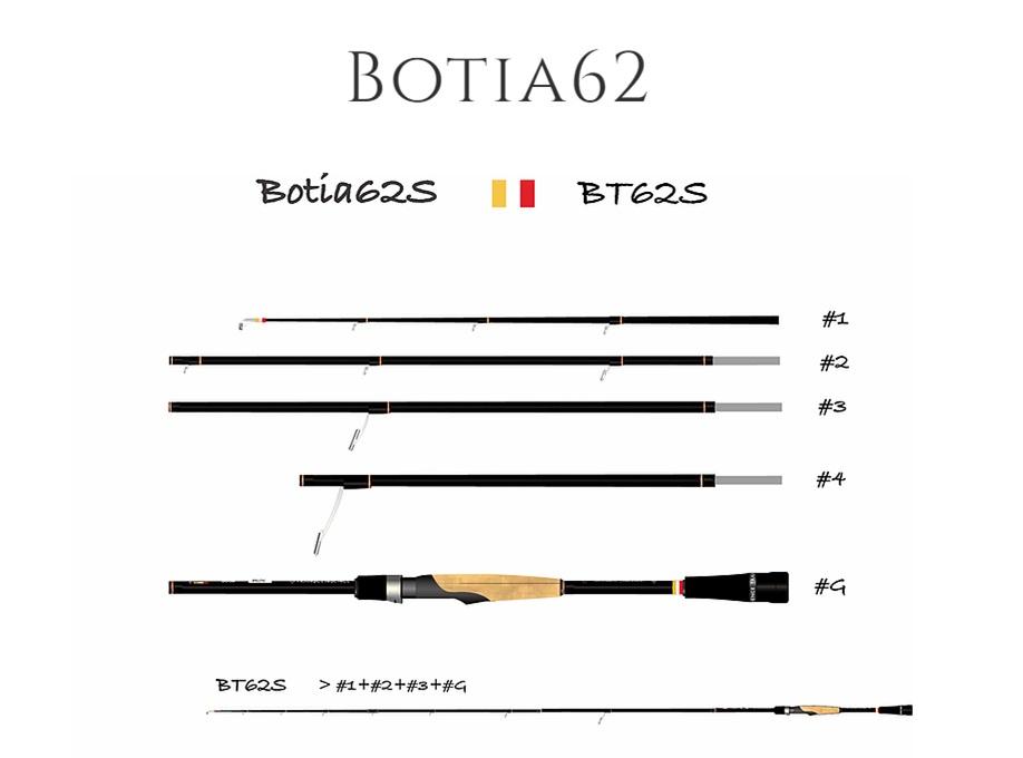 可変マルチピースロッド!TRANSCENDENCE/トランスセンデンス Botia62S+ ボティア62S+
