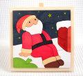 ひとやすみサンタ 木製クリスマスパズル