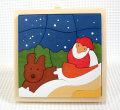 サンタとトナカイ 木製クリスマスパズル