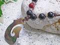 海からの贈り物★黒蝶貝ネックレス フィッシュフック(釣針)