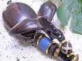海モチーフ★ウッド(木彫り)キーホルダー テール
