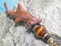 海モチーフ★ウッド(木彫り)ストラップ シュモクザメ