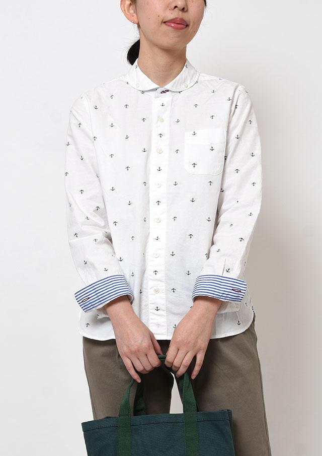 SALE!!【2019春夏】オックスイカリプリントショールカラーボタンダウンシャツ長袖【PL129202A】【ポートランド】