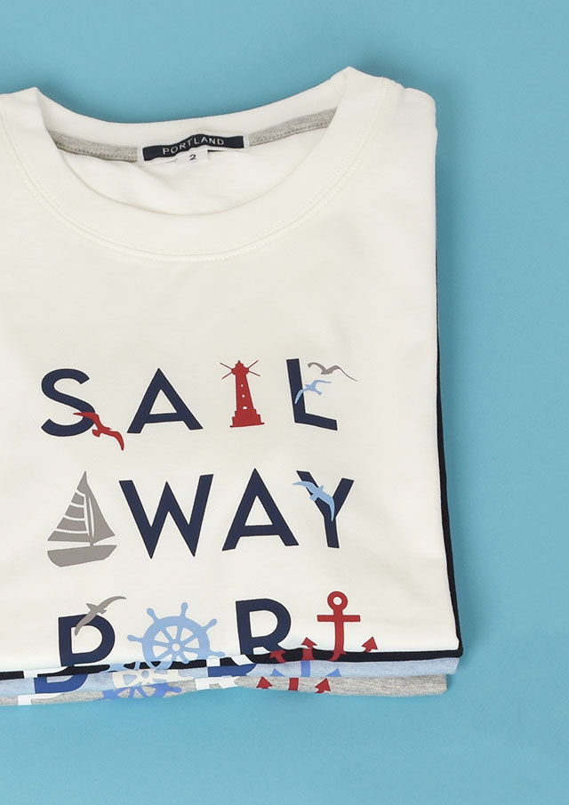 【2021春夏】マリン柄プリントTシャツ半袖【PL151101A】【ポートランド】