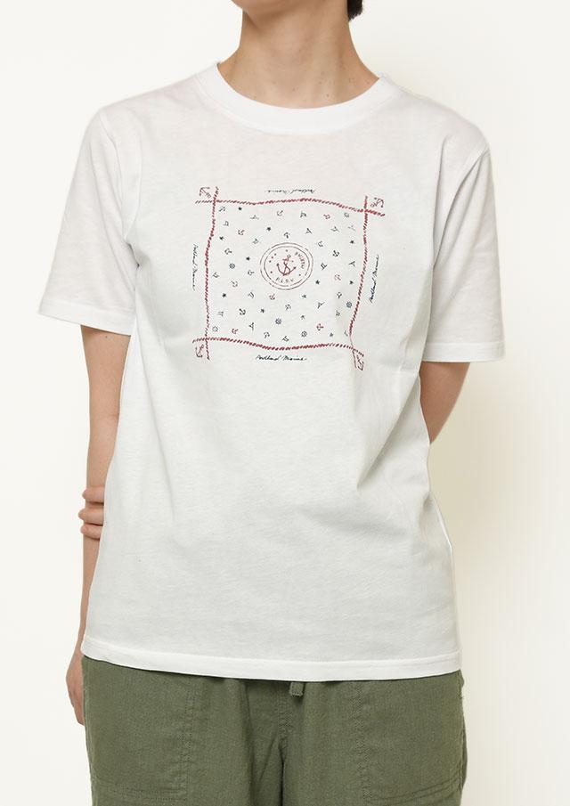 【2021春夏】USAコットンバンダナ柄プリントTシャツ【PL151110】【ポートランド】