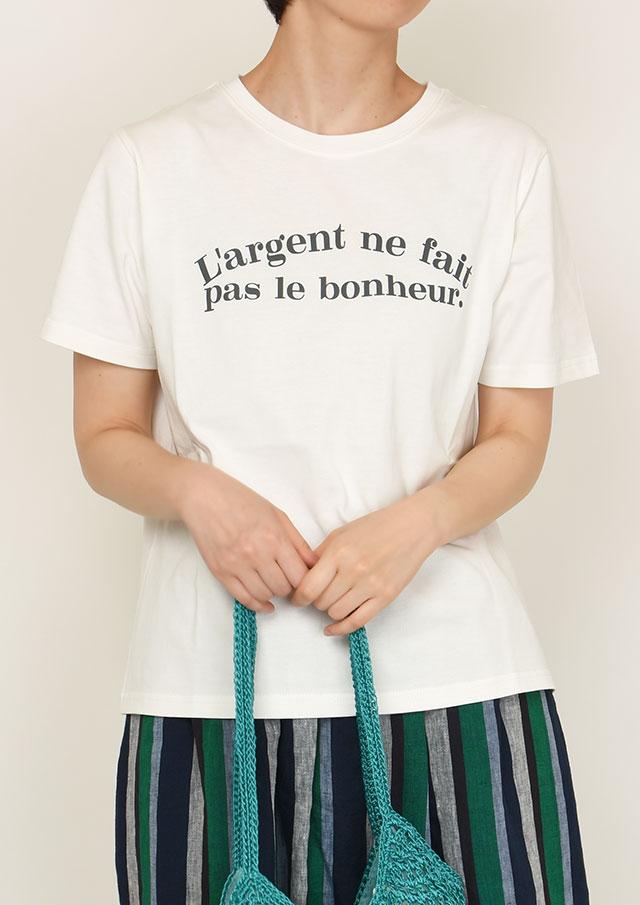 【2021春夏】強撚ロゴプリントTシャツ【PL151119B】【ブルーライフ】