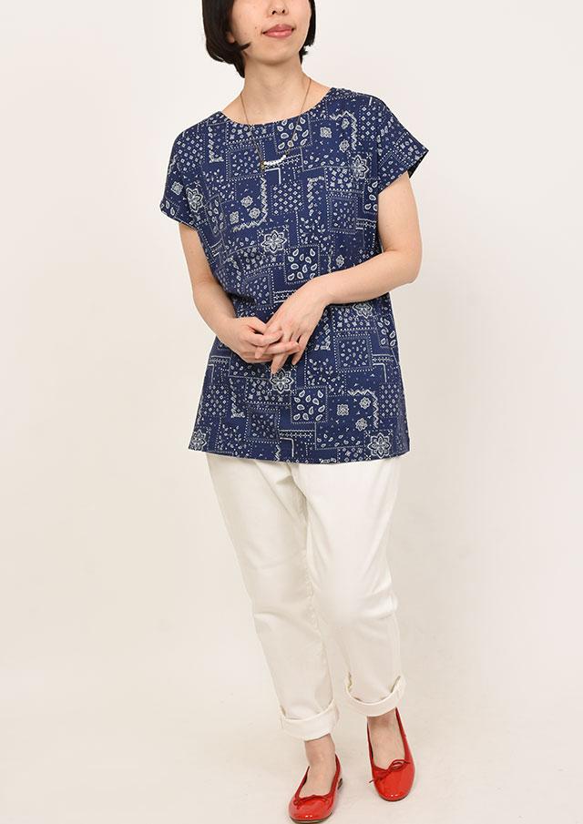 SALE!!【2019春夏】バンダナ柄プリントチュニック【PL159014】【ポートランド】