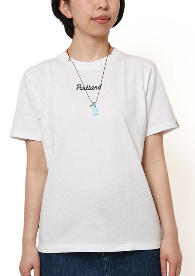 【2019春夏】SUNCOTTONワンポイント刺繍クルーネックTシャツ半袖【PL159104】【ポートランド】